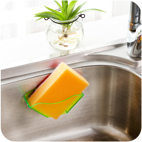 New Double Suction Cup Sink Shelf Soap Sponge Drain Rack Holder Bathroom Kitchen Sucker Storage Special Offer Promotion(China (Mainland))