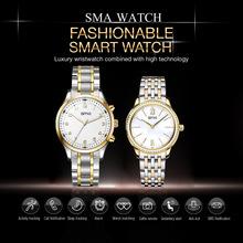SMA Luxury Quartz Watch Men's Women's Couple Bluetooth Smart Quartz Watch Waterproof Sport Sleep Tracking Sync Call Anti-lost