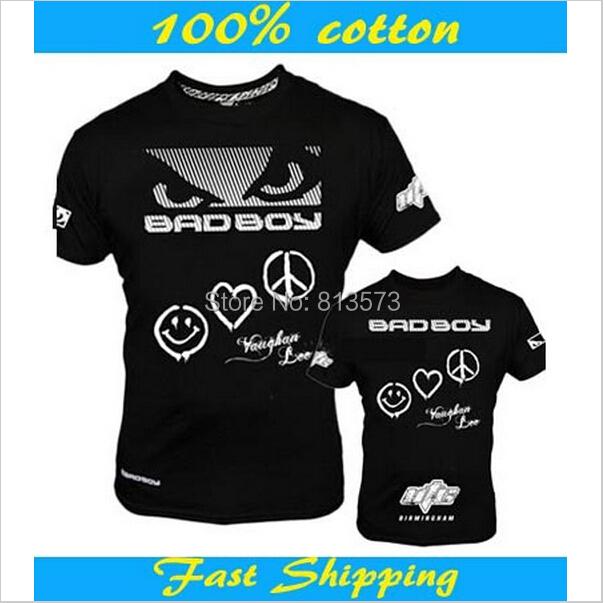 2015 New Badboy Brand Man MMA Fight t shirt Men Brand Designer T Shirt Men Top Sport Men's Clothing Short Sleeve Casual T-shirts(China (Mainland))