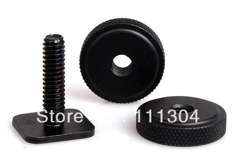 free shipping + tracking number 10pcs/lot 1/4 Inch Two Nut Mount Adapter For Tripod Screw And DSLR Camera Flash Hot Shoe<br><br>Aliexpress