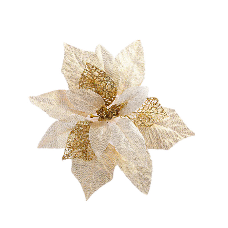 1pcs Onion Powder Gold And Silver Christmas Ornaments 20cm Christmas Flower Artificial Flowers Decorate Christmas Tree Ornaments(China (Mainland))