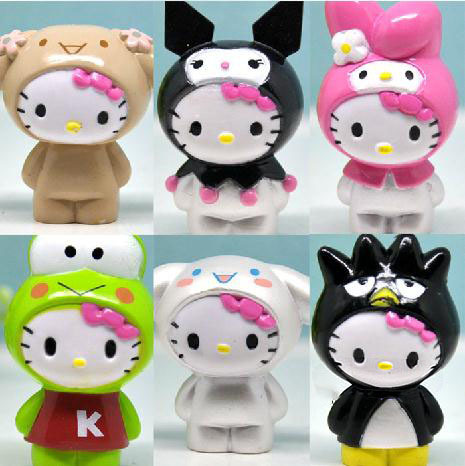 Japanese Anime Hello Kitty Car Accessories Miniature Figurines Pvc Figures Vinyl Dolls Baby Toys Gift Girls Kids Children - Store store