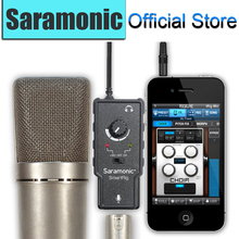 Saramonic XLR Microphone Preamplifier Audio Adapter with Phantom Power for Apple iPad iPhone 4 5 6 Plus Smartphones