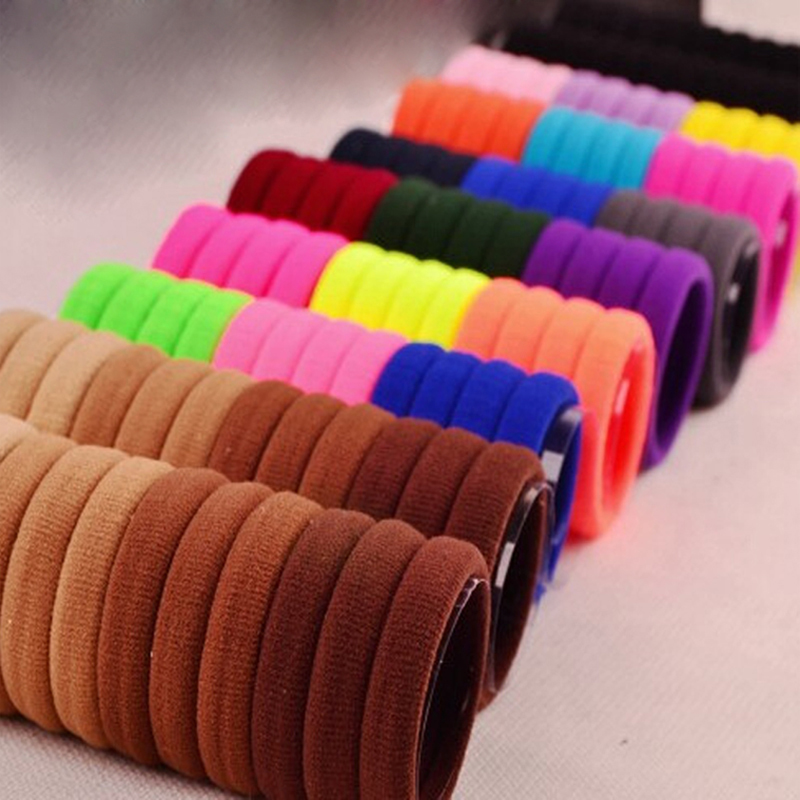 30pcs/lot Candy Fluorescence Colored Hair Band Holders Rubber Bands Elastics Hair Accessories Girl Women Hair Ties Gum(China (Mainland))
