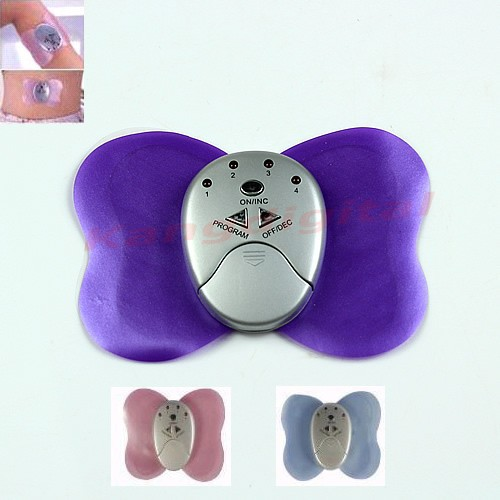 mini butterfly design body electronic slimming massager muscle massager free shipping(China (Mainland))