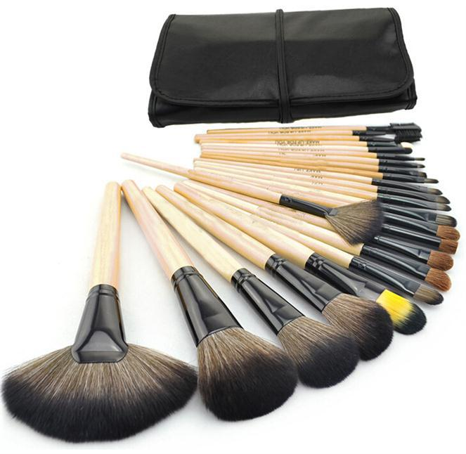Free Shipping High quality Original MAKE UP Brush 2014 Professional 24pcs Makeup tools Brushes Kit cosmetic set with bag <br><br>Aliexpress