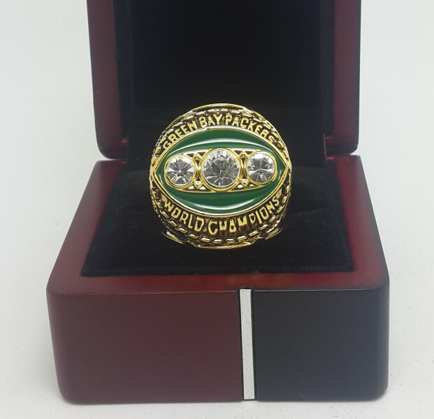 1967 Green Bay Packers II super bowl ring size 11 With Wooden Case best gift for fans Free shipping GO PACK GO(China (Mainland))