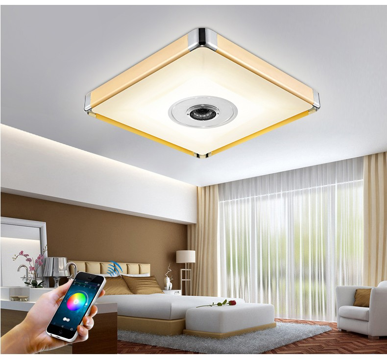 Smartphone Dimming Discoloration Light Study Children's Room Ceiling Lamp LED Bluetooth Music Led Ceiling Light art dec lighting