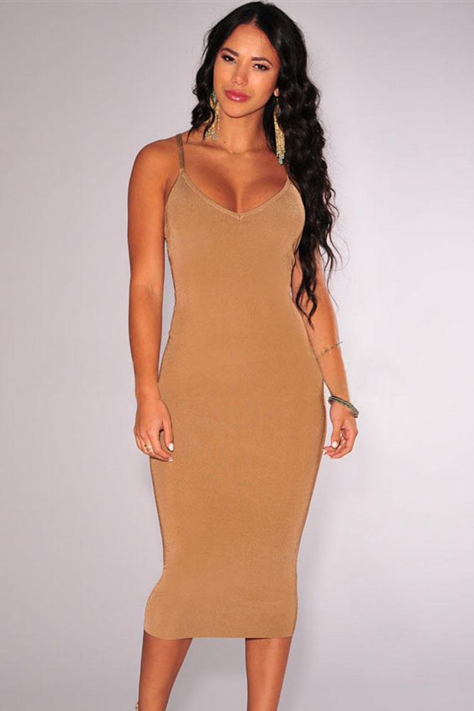 brown strapless dress women's dresses   ivo hoogveld
