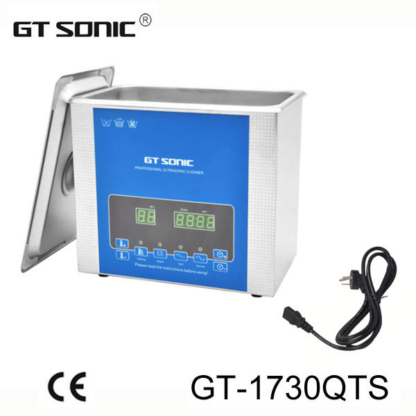 Digital ultrasonic cleaner 3L for dental clinic use with degas function GT-1730QTS with free basket(China (Mainland))