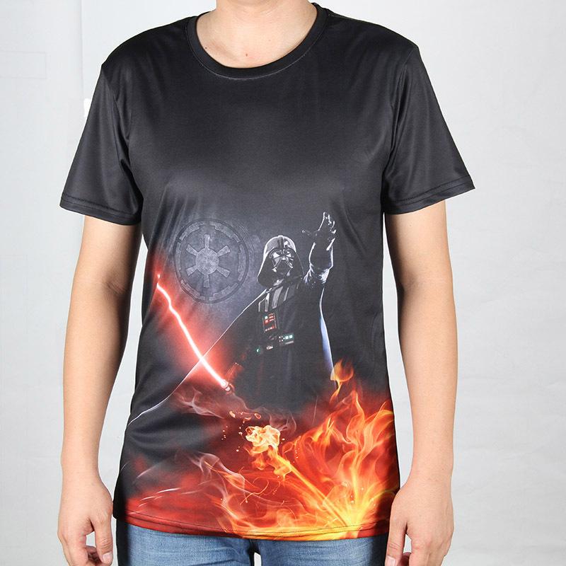 Cool Darth Vader Printed 3D t shirts Star Wars Men Short Sleeve Cartoon Animal t-shirt S-4XL Sexy Lady Design Male Tee Shirt(China (Mainland))