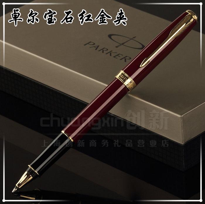 ¡ Promoción!!! Parker pluma Parker Bolígrafo Fashion Business Executive Marca de buena calidad roja cuerpo goldenclips 07(China (Mainland))