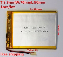 Brand new battery 357090 3.7V 3500mAh Lithium polymer Battery with Protection Board For Tablet PC CUBE U25GT Free Shipping(China (Mainland))