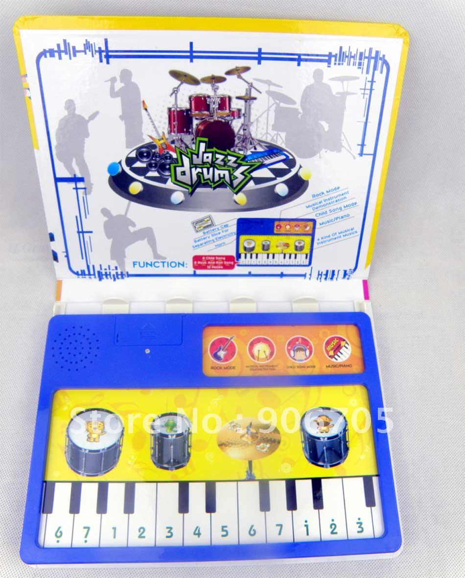 Free shipping-Wholesale Drum and Piano childrens books in english, musical book educational toys for kids,12PCS/lot(China (Mainland))
