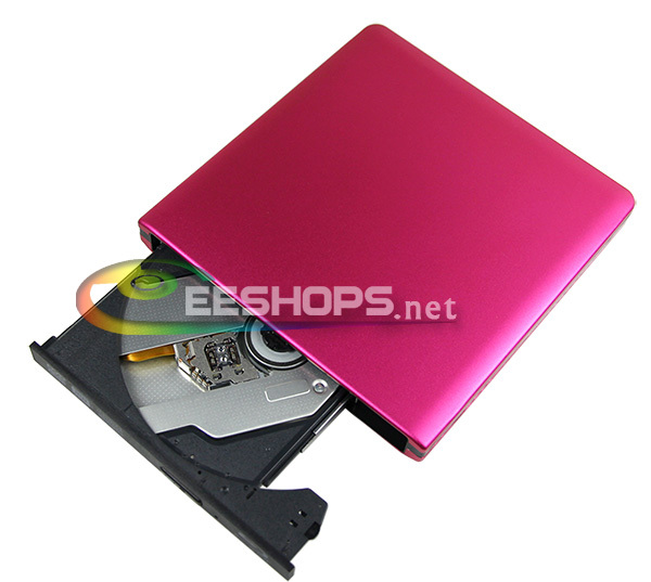 for Panasonic UJ-240 Laptop Desktop PC USB 3.0 External Blu-ray Burner 6X 3D Bluray BD-RE 8X DVD DL Writer Aluminum Pink Case(Hong Kong)