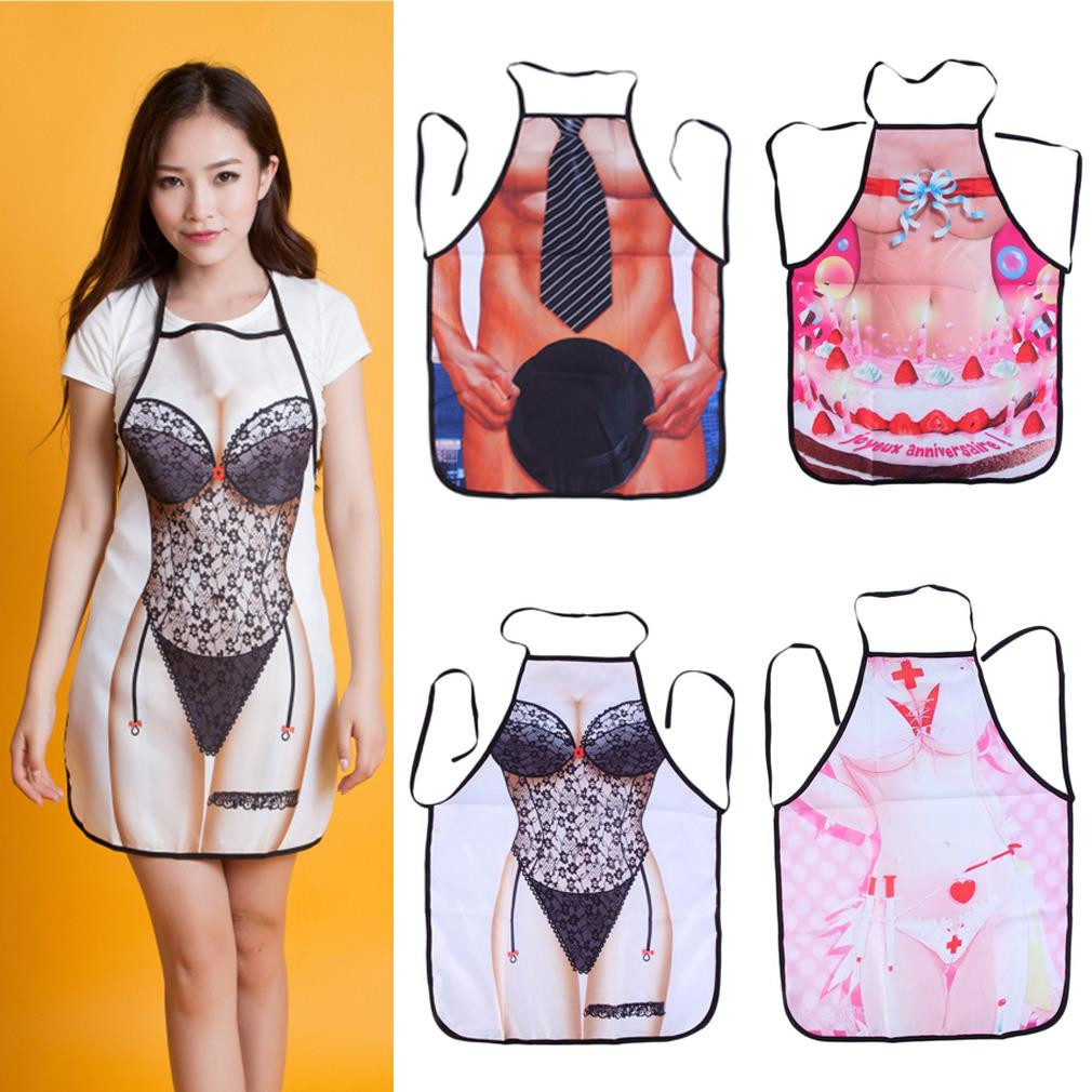 2016 1PCS Multicolor Sexy Cooking Aprons Funny Novelty BBQ Party Apron Naked Men Women Lovely Rude Cheeky Kitchen Cooking Apron(China (Mainland))