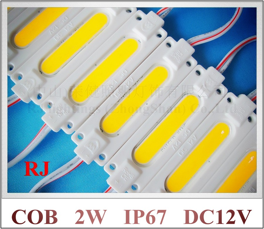 injection COB LED module waterproof LED back light backlight LED COB module for sign DC12V 2W IP67 CE ROHS 70mm*20mm*3mm ABS(China (Mainland))