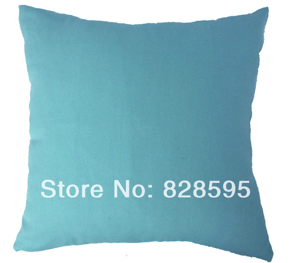 EA206 - 18 x inch / 45 45CM Light blue mist Cotton Canvas Cushion Cover/Pillow Case (1pcs) Hong Kong Post tracking number Moses DaBenGou Co., LTD Christ is the answer store