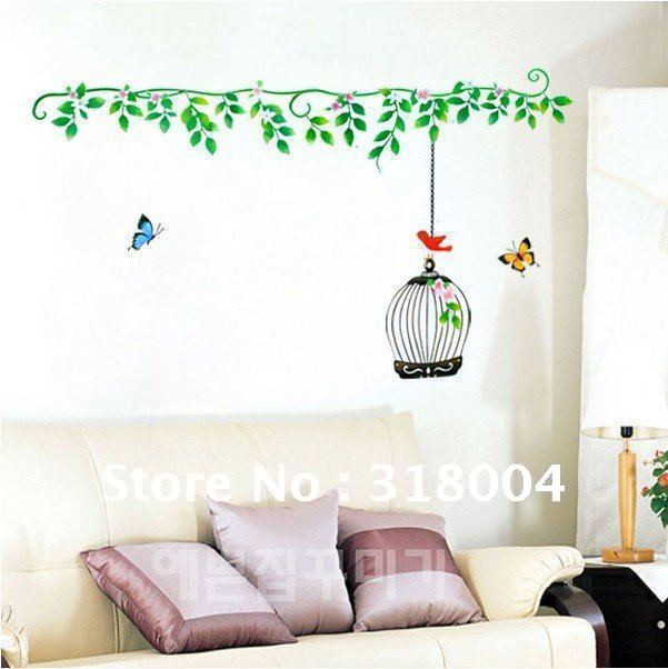 Buy Ivy And Butterfly Vinyl Wall Sticker Decal Home Decor On Sale Kid Room