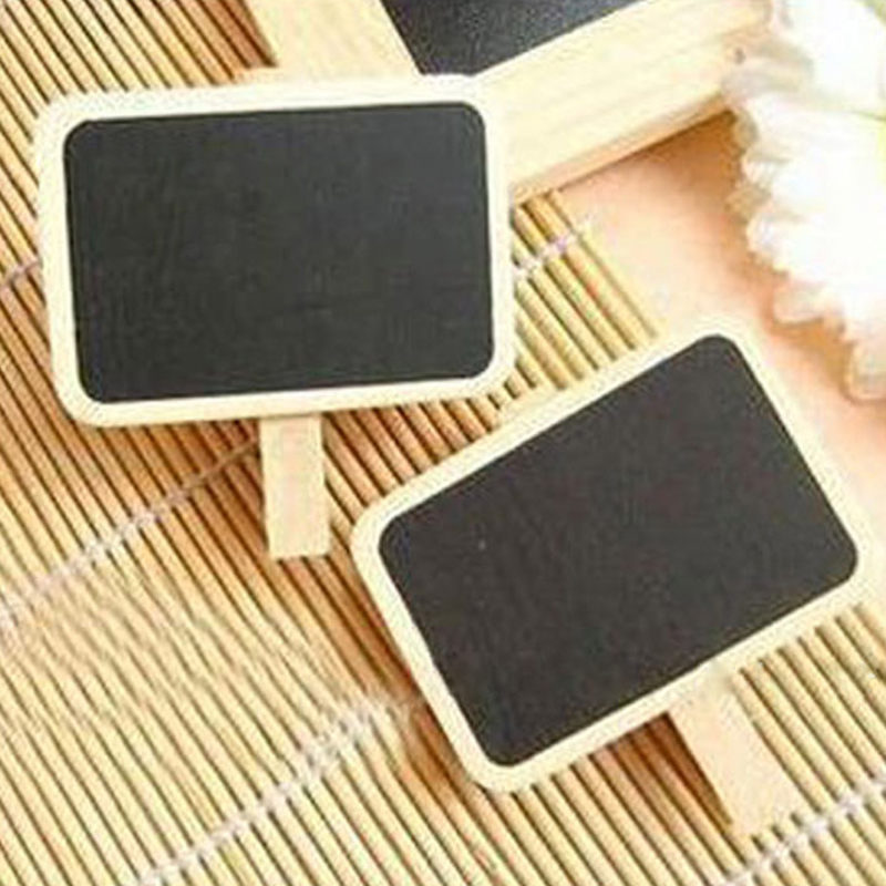 Blackboard Message clip Beautiful Design 7.2*0.7CM Mini Wooden Craft Pegs Clothes Paper Photo Hanging Spring Clips For Cards(China (Mainland))