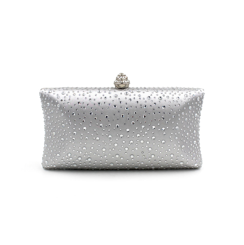 Wholesale 2016 Luxury Evening Bags Hot Fix Crystal Water Drop Handbags Party Wedding Purse Chain ...