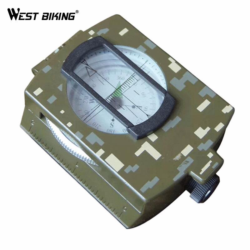 WEST BIKING High Quality Sports Compass Military Liquid-damped Travelling Hiking Climbing Cycling Compass MTB Riding Part(China (Mainland))