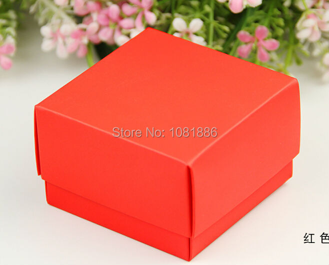 6.5*6.5*4.2cm Red color wedding favor boxes candy gift box,small red cardboard box