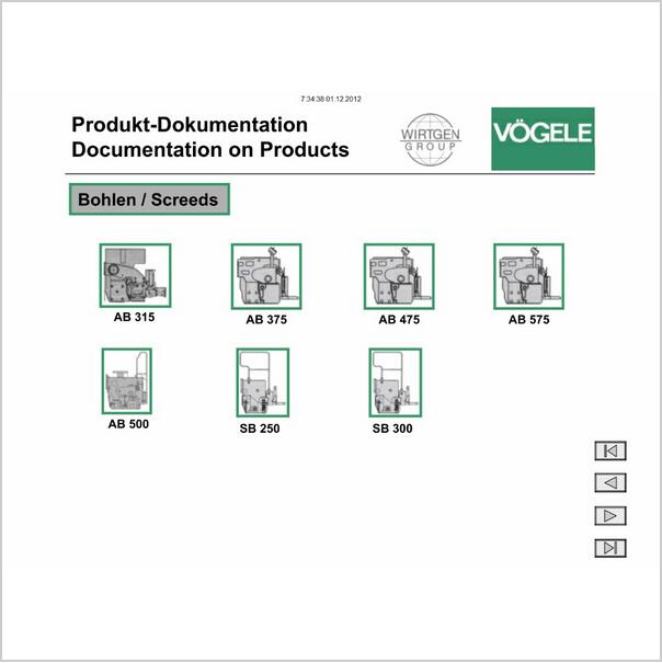VOGELE electronic spare parts catalog, Vogele service manual, Vogele wiring diagrams and operation manuals.(China (Mainland))