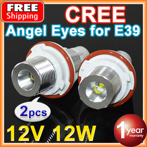 2 Pieces(1 Set) 2*6W 12W CREE Chip LED Marker Angel Eyes White / Blue for E39 E53 E60 E61 E63 E64 E65 E66 E87 FREE SHIPPING(China (Mainland))