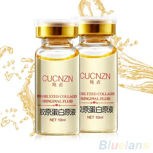 10ml Anti aging Whitening Moisturizing Pure Collagen Protein Liquid Fluid 6ZF1