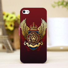 pz0024-1-11 lion head tattoo Design Customized cellphone cases For iphone 4 5 5c 5s 6 6plus Shell Hard Skin Shell Case Cover