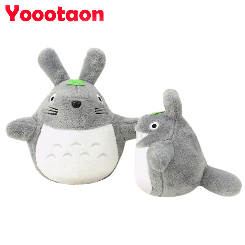Kawaii Totoro plush toys Stuffed dolls 25cm High qulity lovely Animals Movie character cartoon soft kids toys gift For Children(China (Mainland))