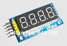 Free Shipping!!! 5pcs 4 digital LED display four serial module 595 to send five DuPont line drive(China (Mainland))
