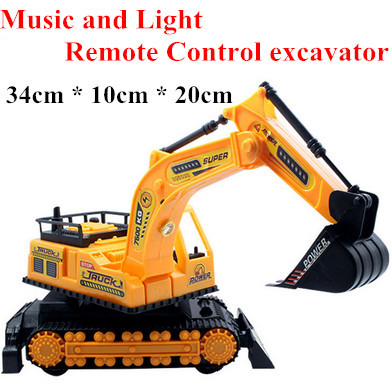 Remote control toy vehicles engineering truck model electric wireless rc excavator puzzle toys baby gift kids toys for christmas(China (Mainland))