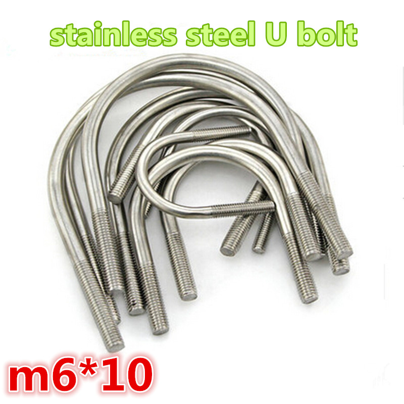 20pcs m6*10 304stainless steel a2-70 304ss u shape bolt<br><br>Aliexpress