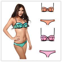 2014 Swimsuit Sexy Swimwear Women MILLY Neoprene Bikinis Swimsuit Set Bikini Set Top Quality SIX COLORS