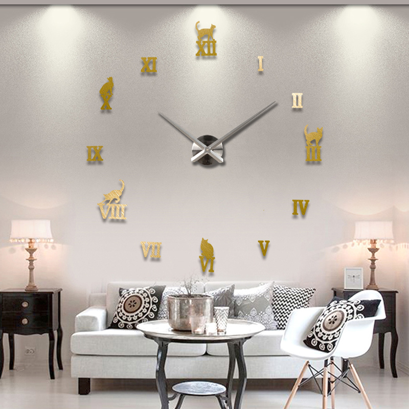 2016 new real quartz selling metal modern watch large 3d diy wall clock home decor gift silent - Sell home decor online collection ...