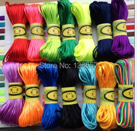 Chinese knot wire line 5, bracelet necklace jewelry accessories braided rope, DIY manual materials wholesale 20 meters/piece(China (Mainland))