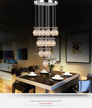 45w 15 head LED SMD5730 source Modern Crystal Amber glass cups Hanging Wire Pendant Light Rain Chandelier Ceiling Lamp Lighting(China (Mainland))