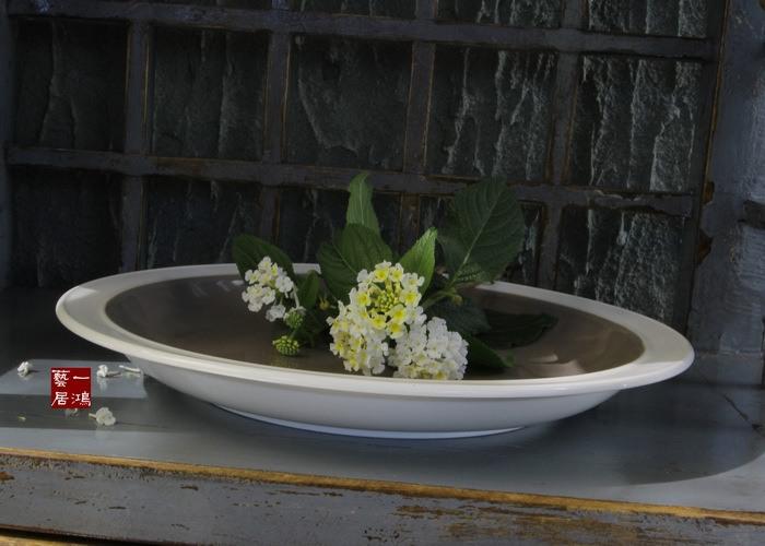 Advanced famous ceramic tableware porcelain plate steak plate western gray market fruit market(China (Mainland))
