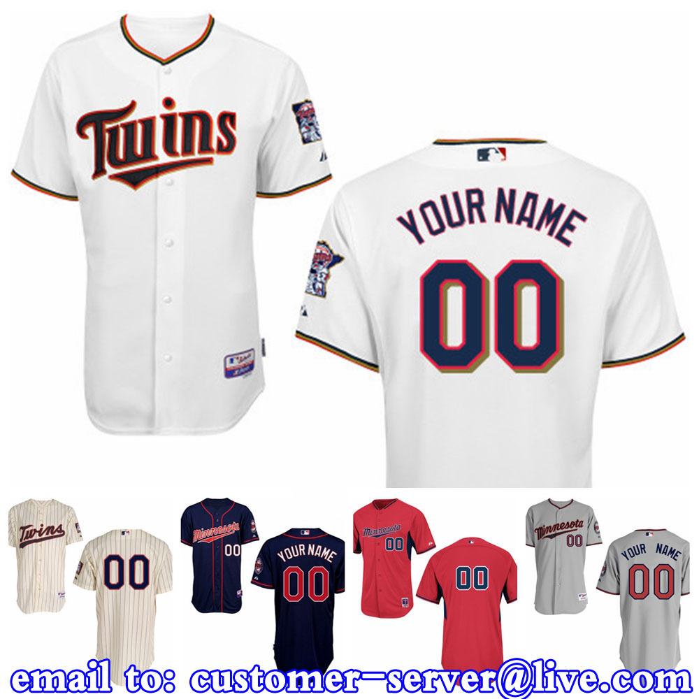 Custom Mens/Womens/Youth Minnesota Twins Torii Hunter / Joe Mauer Baseball Jersey 2015 New Cool Base Double Stitched On Field<br><br>Aliexpress