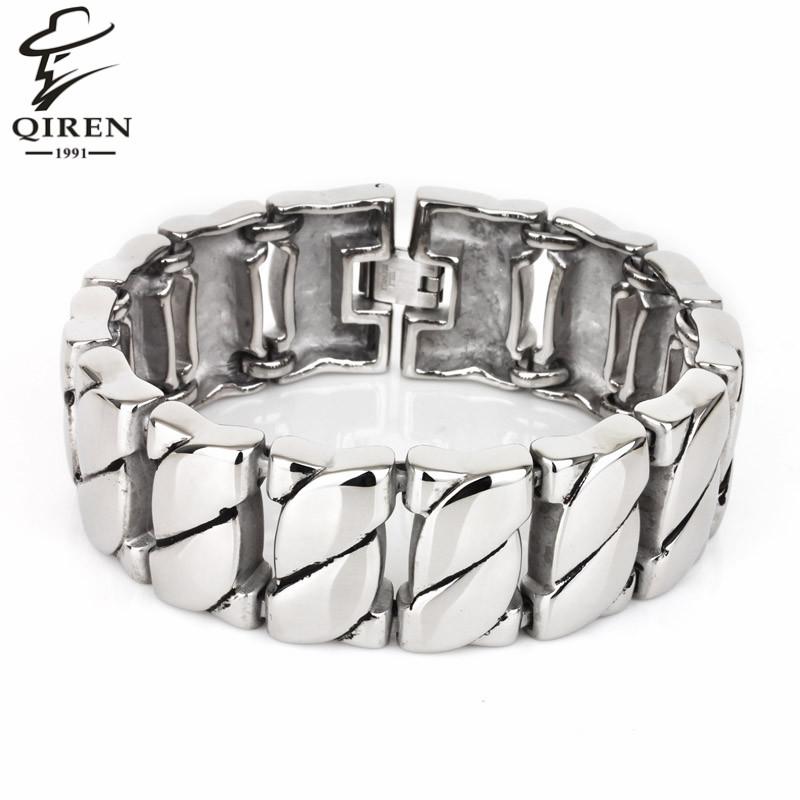 Trend Stainless Steel Bracelet Bangle Men's Jewelry Charm Chain Link Wristband Men's Bracelet(China (Mainland))