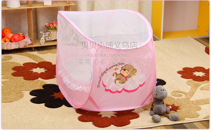 Бесплатная доставка складной портативный ребенка москитная сетка в продаже, Высокая Quility площадь детские кроватки детская кроватка насекомых комары чистая для детская кроватка