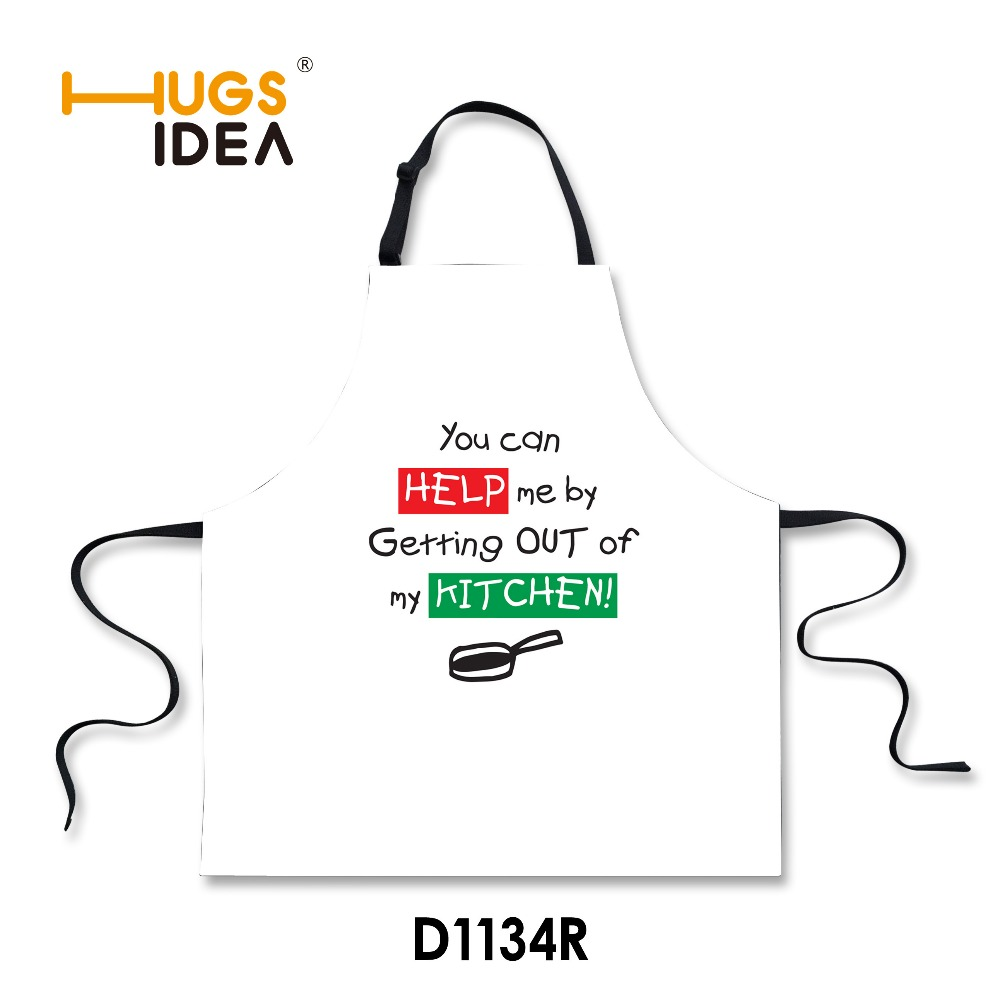 New White Black Funny Words Printing Kitchen Apron Gift for Mon Chefs Working Home Cooking Apron for Women Avental De Cozinha(China (Mainland))