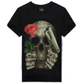 Summer Style Mens T Shirt Print Guns N Roses Skull T Shirt 3D Brand Clothing Tops