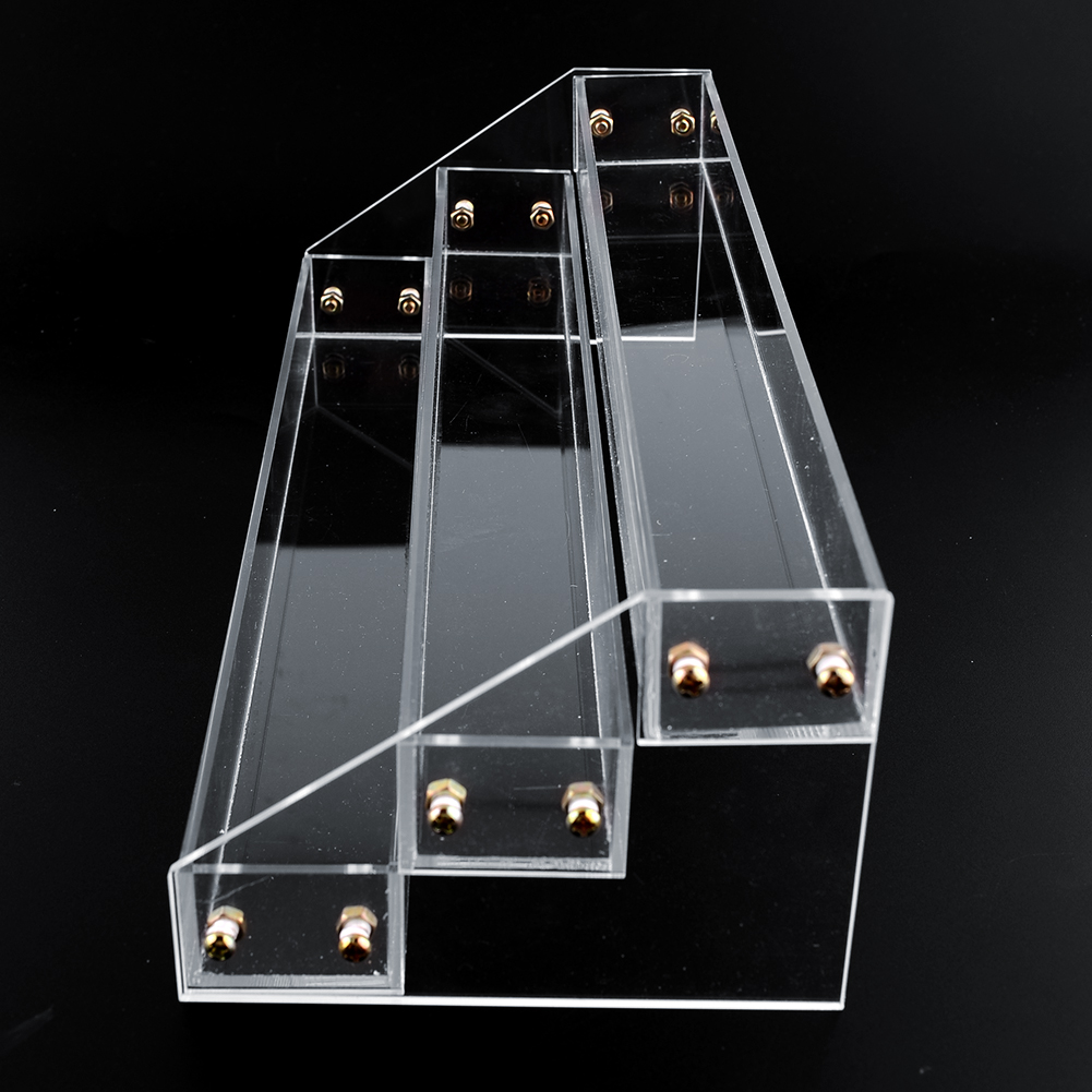 3 Tier Clear Acrylic Display Stand Rack Organizer Nail Polish Salon Wall Makeup Good Quality(China (Mainland))