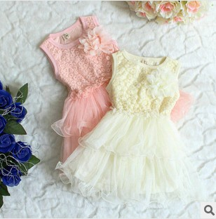 Платье для девочек New 2014 Girl Party Dress Princess Girls Wedding Dresse 1 2/6y CCC330 Chiffon Girls Flower Party Dress With Bow