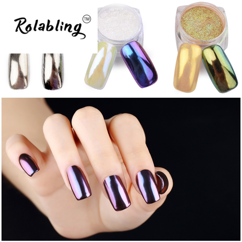 Rolabling New Arrival Shining Mirror Nail Glitter Powder High Shiny Great Quality Glitter Powder Hot Sale Amazing(China (Mainland))