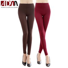 ADM New Arrival Autumn Winter Fashion Sexy Women Leggings Brushed Warmer Solid Candy Colors Seamless Pants Slim Fit Skinny(China (Mainland))