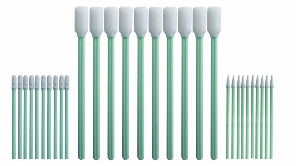 Total 30 pcs Foam Tip Cleaning Swabs Sponge Stick for Inkjet Printer, Printhead, Camera, Cleanroom, Optical Lens, Detailing